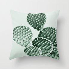 Green Bunny Ears Cactus  Throw Pillow