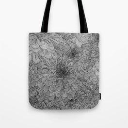 Linework Zinnias Tote Bag