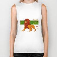 simba Biker Tanks featuring Simba, the lion king by lulu555