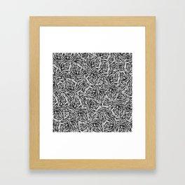 Infinite Snake Pattern Framed Art Print