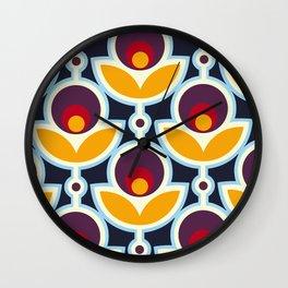 Midnight Primrose Wall Clock