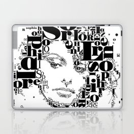 Sophia Loren Typographic Image Laptop & iPad Skin