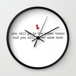 Paper Towns Wall Clock