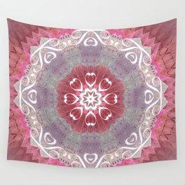"Pastel Hidden ""Text"" Mandala Wall Tapestry"
