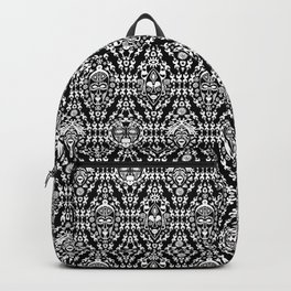 Ethnic African Tribal pattern on black Backpack