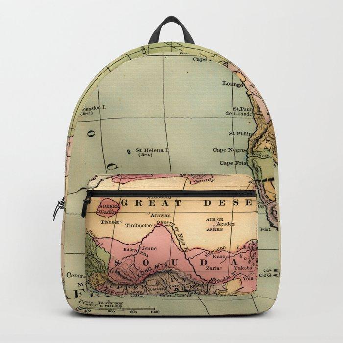 Vintage Africa Map Backpack