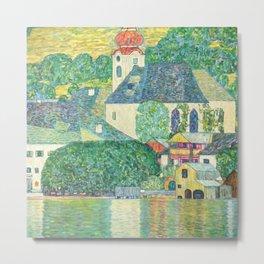 """Gustav Klimt """"Church in Unterach on the Attersee"""" Metal Print"""