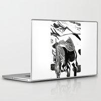 unicorns Laptop & iPad Skins featuring Unicorns by Lily Livingston