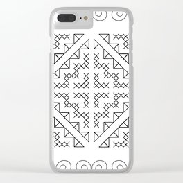 Tribal Hmong Design 2 Clear iPhone Case