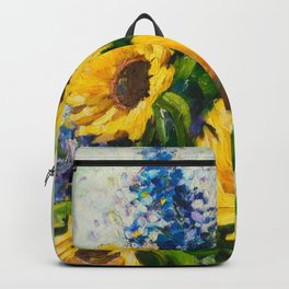 Sunflowers Oil Painting Backpack
