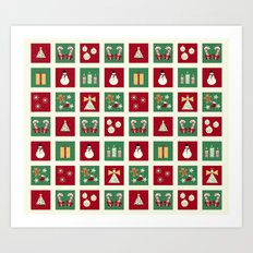Home for the Holidays Mini Collage Art Print