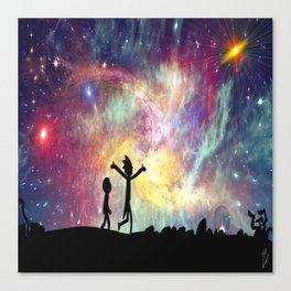 The universe is a pretty big place. If it's just us, seems like an awful waste of space Canvas Print