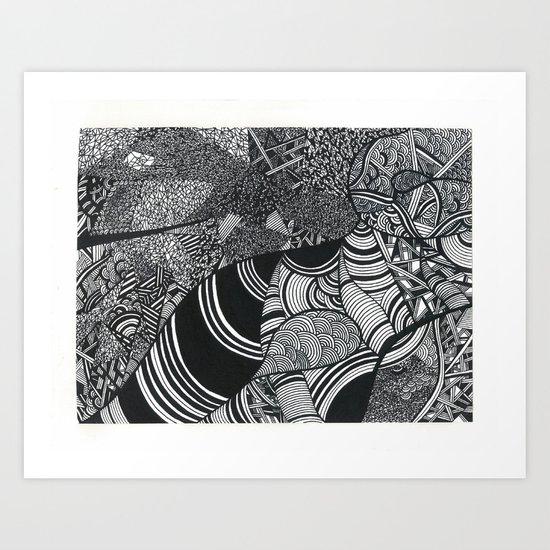 Laying Down Art Print