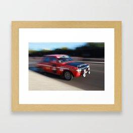 Datsun 1200 racing Framed Art Print