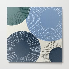 Big Blue Circle Abstract Metal Print