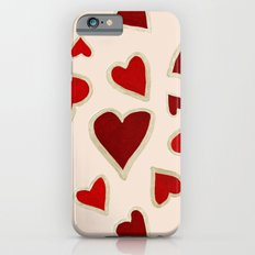 Ditsy dark hearts for lovers iPhone 6s Slim Case