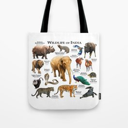 Wildlife of India Tote Bag