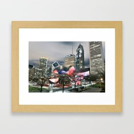Jay Pritzker Pavilion at Night Framed Art Print
