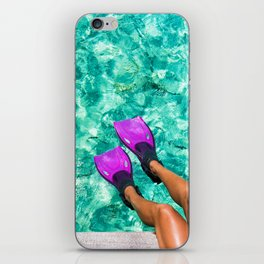 Vacation in the Maldives for the winter holidays iPhone Skin