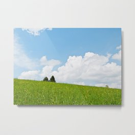 Behind the green hill Metal Print