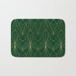 Art Deco in Gold & Green Bath Mat