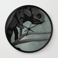 chameleon Wall Clocks featuring Chameleon by Andrew Formosa