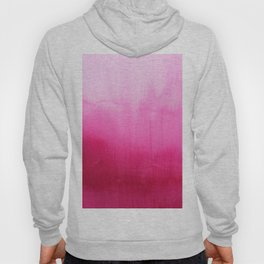 Modern fuchsia watercolor paint brushtrokes Hoody