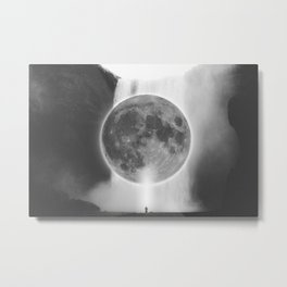 Moon Talks Metal Print