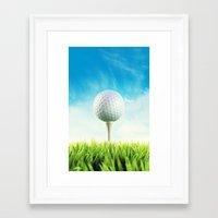 golf Framed Art Prints featuring GOLF by Ylenia Pizzetti