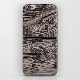 Wooden pattern with handcrafted iron nails iPhone Skin