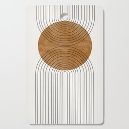 Abstract Flow Cutting Board