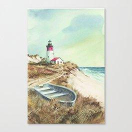 sea coast lighthouse Canvas Print