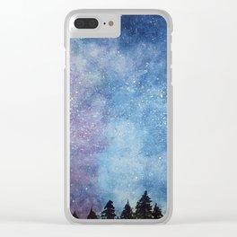 Nebula Night Clear iPhone Case
