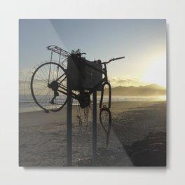Rusted Bicycle Metal Print