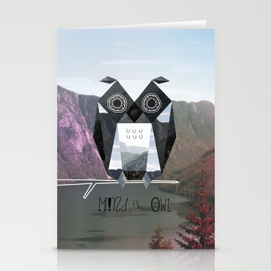 Mind the Owl! Stationery Cards