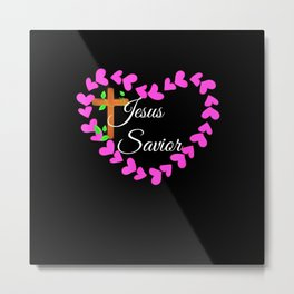 Jesus the only Savior Metal Print