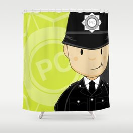 P is for Policeman Shower Curtain
