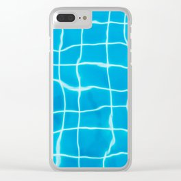 Swiming Pool Clear iPhone Case