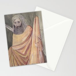 Reproduction of a Section of The Trial By Fire Fresco by Giotto Stationery Cards