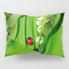 The Ladybug and Lily of the valley Pillow Sham
