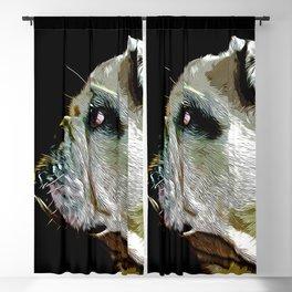 english bulldog dog vector art Blackout Curtain