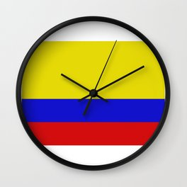 colombia flag Wall Clock