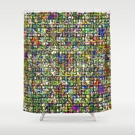 Jigsaw Junkie Mesh Shower Curtain