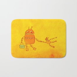 Robomama Robot Mother And Child Bath Mat