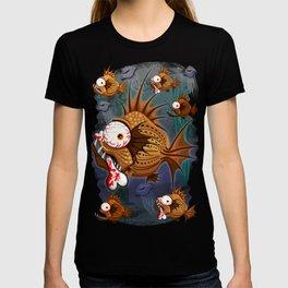 Psycho Fish Piranha with Bone T-shirt