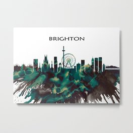 Brighton Skyline Metal Print