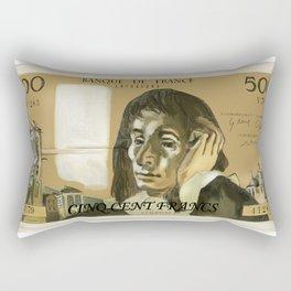 50ם Old French Franc  note - Front side Rectangular Pillow