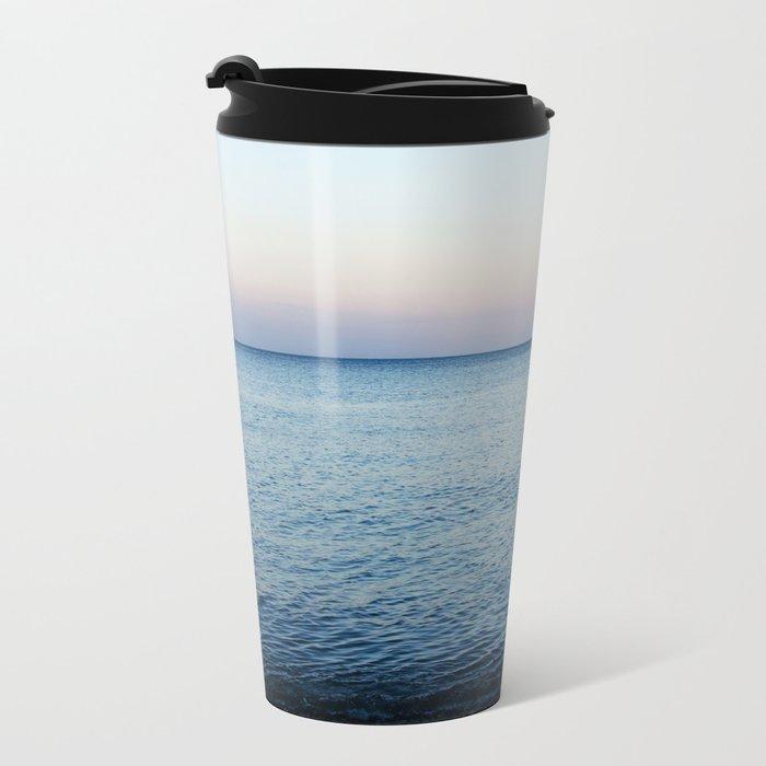 Sea. Evening Calm Metal Travel Mug