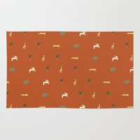 safari Area & Throw Rugs featuring Safari by FunnyFaceArt