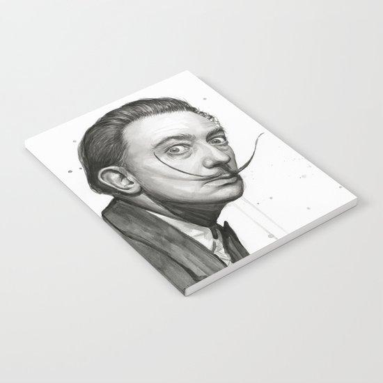 Salvador Dali Watercolor Portrait Notebook